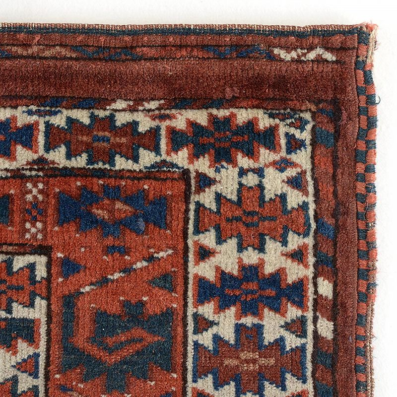 Antique Turkmen Yomut Ensi Rug with Eagle Elem, 19th C.