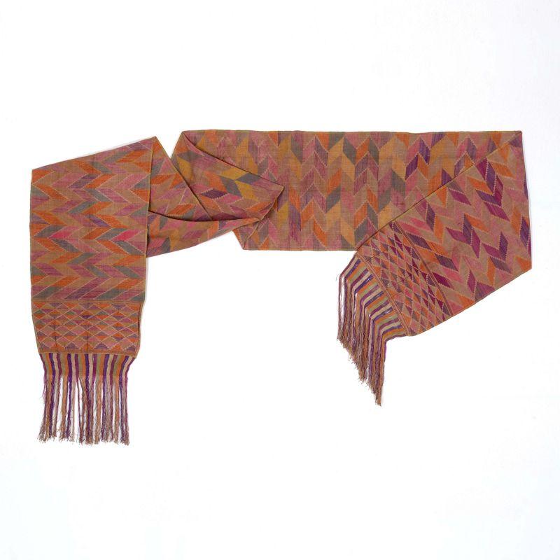 A rare Tausug Tapestry Silk Sash Textile, Sulu Philippines No. 3.