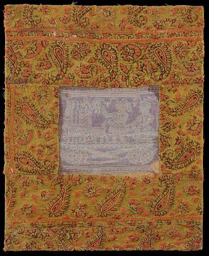 Anglo Indian Baluchari Silk Sari Kashmir Shawl Assemblage No.1, 19th C