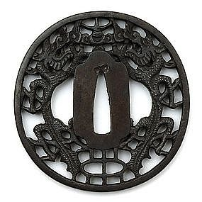 Iron Tsuba in Nanban style, Japan, Edo period.