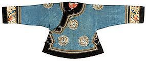 Antique Chinese Lady's Informal Jacket, Late Qing.