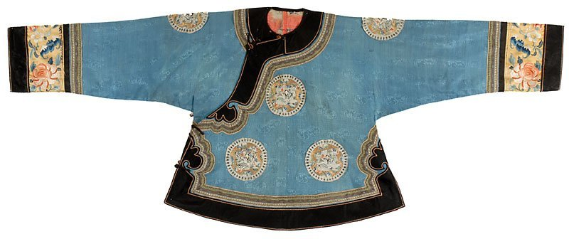 Antique Chinese Lady's Informal Silk Jacket, Late Qing.
