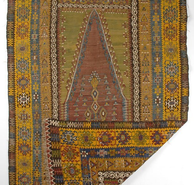 Antique Yahyali Prayer Kilim, Anatolia, 19th C.