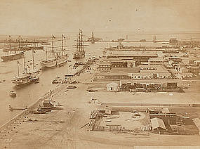 Original Albumen Photograph: Egypt, Port Said, c. 1880.