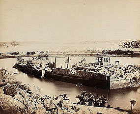 Early Albumen Photograph: Egypt  Philae, c. 1875.