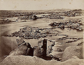 Early Original Albumen Photograph: Egypt, Nile. C. 1875