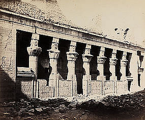Early Albumen Photograph: Egypt, Philae. Pre 1880.