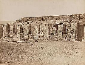 Early Albumen Photograph: Egypt, Abydos. C. 1875.