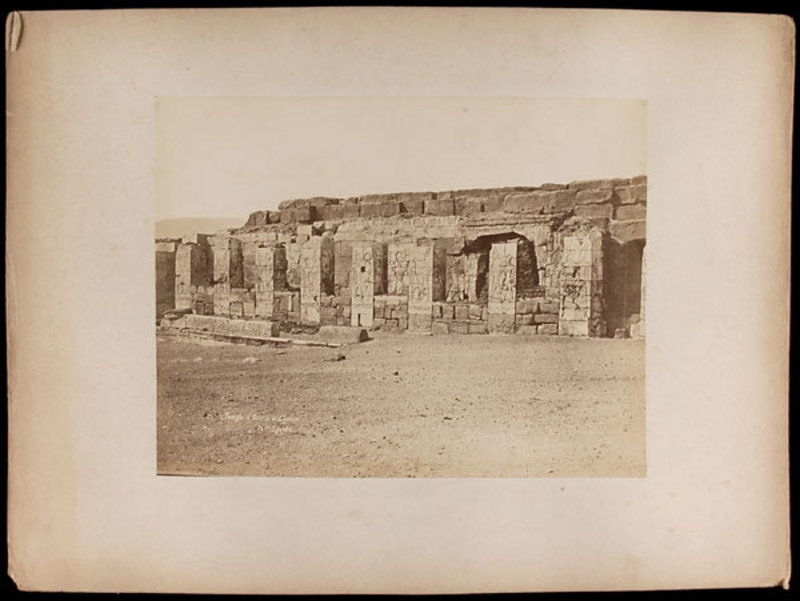 Early Albumen Photograph: Egypt, Abydos. C. 1875.