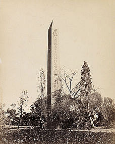 Early Albumen Photograph: Egypt, Obelisk. Pre 1880.