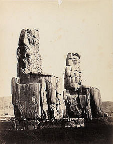 Early Albumen Photograph: Egypt, Thebes. Pre 1880.