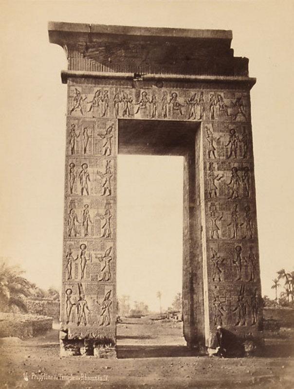 Early Albumen Photograph: Egypt, Karnak. c. 1870.