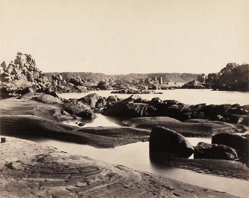 Early Vintage Photograph of Philae, Egypt. Before 1870.