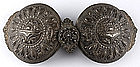 Large Ottoman Greek Silver Belt Buckle, 19th C.