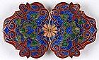 Art Nouveau Enamel Belt Buckle, c. 1900.