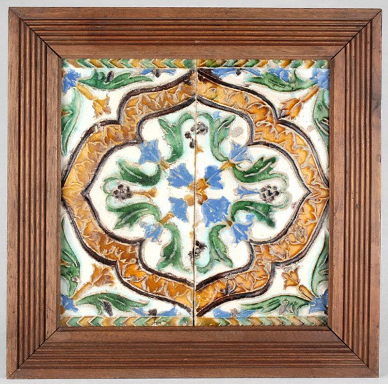 Hispano Moorish Arista Tile, Spain, 16th / 17th C.