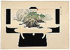 Japanese Kimono Design Woodblock Print No. 8, Meiji