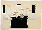Japanese Kimono Design Woodblock Print No. 10, Meiji