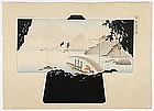Japanese Kimono Design Woodblock Print No. 25, Meiji