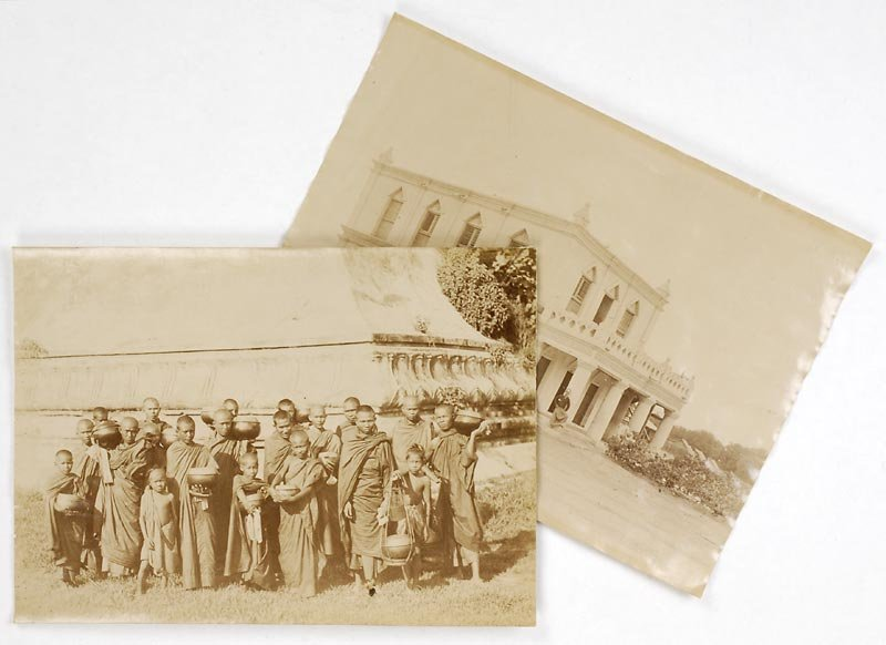 Two Historical Photographs from Colonial Burma, 19th C.