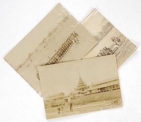3 Historical Photographs from Colonial Burma, 19th C.