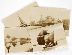 4 Historical Photographs from Colonial Burma, 19th C.