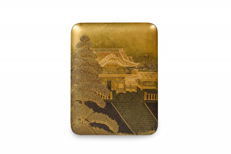 Japanese Gold Lacquer Kobako