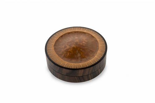 Japanese lacquered bamboo box (kobako) - showa era