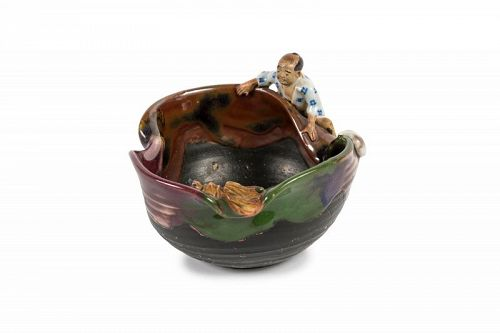 Japanese Sumida gawa bowl - Ishiguro Koko, Meiji