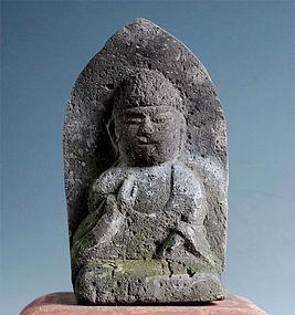 Stone Shaka Buddha Nyorai Sakyamuni Edo 18 c.