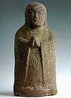 Figural Stone Jizo Bosatsu Bodhisattva Kannon Edo 18 c