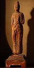 Wooden Bosatsu Bodhisattva Nagarebutsu Heian 12 c.