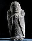 Stone Jizo Bosatsu Bodhisattva Kannon Buddha Edo 18 c