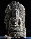 Stone Granite Amida Nyorai Buddha Muromachi 15/16 c.