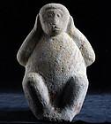 Stone Monkey Hear No Evil Kikazaru Edo 19 c.