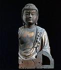 Wooden Seated Buddha Fragment Nanbokucho/Muromachi