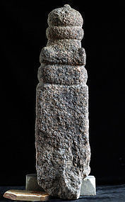 Stone Gorinto 5-Tiered Stupa Granite Muromachi 15 c.