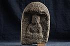 Stone Amida Nyorai Buddha Muromachi 15/16 c.