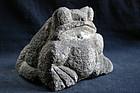Stone Toad Frog Kaeru Granite Meiji/Taisho ca. 1920