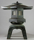 Bronze Yukimi-doro Snow-viewing Lantern Meiji/Taisho