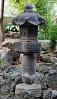 Stone Lantern Ishi-doro Tokugawa Crest Edo 17 c.