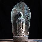 Stone Jizo Bosatsu Bodhisattva Late-Edo/Meiji 19 c.