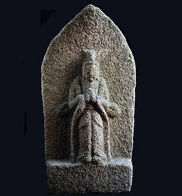 Stone Bato (Horse-Head) Kannon Bosatsu Edo 18 c.