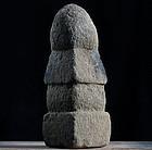 Stone Gorinto 5-tiered Stupa Pagoda Edo 17/18 c.