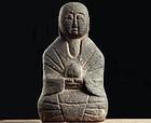 Stone Jizo Bosatsu Minkan-Butsu Mingei Edo 17 c.