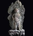 Stone Fudo-Myo Wisdom King Dai-Nichi Edo 19 c.