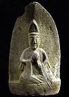 Stone Sho-Kannon Bosatsu Bodhisattva Edo 18/19 c.