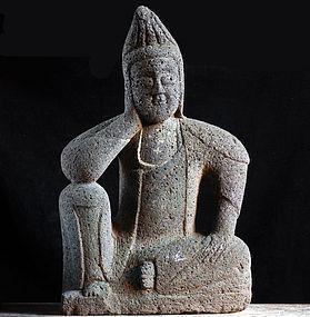 Stone Nyoirin Kannon Bosatsu Horeki 9 (1759) Mid-Edo Period