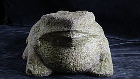 Stone Toad Frog Kaeru Meiji ca. 1900
