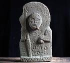 Stone Jizo Bosatsu Bodhisattva Late-Edo 18/19 c.